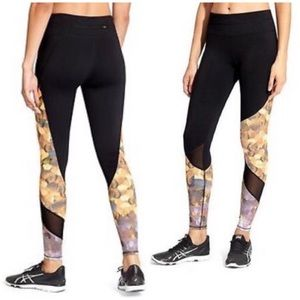 Athleta • asymmetric mesh sonar honeycomb legging